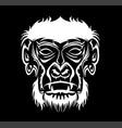 gorilla logo vector image vector image