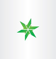 green icon star design element vector image