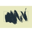 Hand drawn painting brush strokes stain vector image vector image