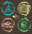 Hand drawn travel set vector image vector image
