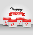 happy new year 2018 calendar numbers banner design vector image vector image