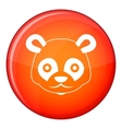 Head of panda icon flat style vector image vector image