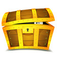 hiding inside treasure chest vector image vector image