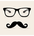 Hipster glasses Hipsta man vector image vector image