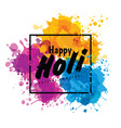holi spring festival of colors design vector image vector image