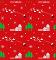 holiday seamless repeating pattern vector image vector image