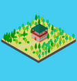 house in the forest for observation vector image