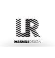 lr l r lines letter design with creative elegant vector image vector image