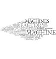 machines word cloud concept vector image vector image