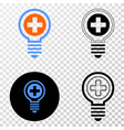 medical bulb eps icon with contour version vector image vector image