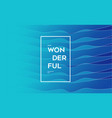 modern blue wave background vector image