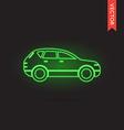 Neon Car Icon Car Icon Car Icon Object Car Icon vector image vector image