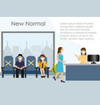 new normal lifestyle in company during covid-19 vector image