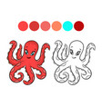 octopus coloring book vector image vector image