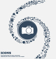 Photo camera sign icon Digital photo camera symbol vector image