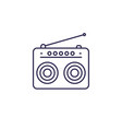 radio icon in line style vector image