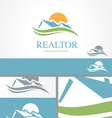 Real Estate Housing Valley Logo Concept Template vector image vector image