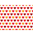 red and orange heart shape pattern vector image vector image