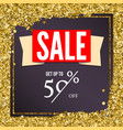 sale poster with luxury gold sparkle glitter get vector image vector image