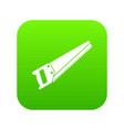 saw icon digital green vector image
