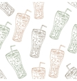 Seamless pattern scetch of three types cola vector image vector image