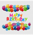 set bunches and groups of color glossy helium vector image