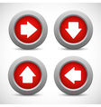 Set of arrow buttons vector image