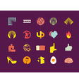 set of icons logos vector image vector image