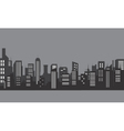 Silhouette of apartment with gray color vector image vector image