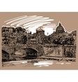 sketch drawing rome italy cityscape type of vector image