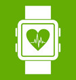 smartwatch icon green vector image vector image