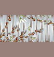 snowdrop flowers and buds background beautiful vector image vector image