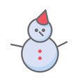 snowman icon isolated on white backgroundflat vector image