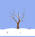 snowy background with tree vector image