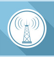 telecommunications tower icon vector image vector image