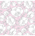 tender romantic abstract flowers seamless pattern vector image