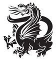 tribal tattoo dragon vector image