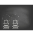 Two highly ornamental candles on blackboard vector image