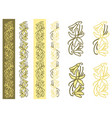 vanilla plant simple ornament vector image vector image