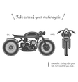 Vintage motorcycle infographic Cafe racer theme vector image vector image