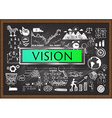 VISION on chalkboard vector image vector image