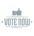 vote now logo simple gray style vector image vector image