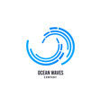wave logo surfing company icon sea water vector image