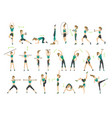 woman fitness collection workout aerobic vector image