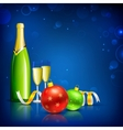 Champagne Glass for Christmas Celebration vector image