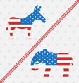 Donkey and Elephant as a Symbols Vote of USA vector image