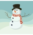 Snowman icon flat helper Snowman icon face vector image