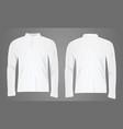 white polo shirt long sleeve vector image