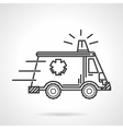 Black icon for ambulance car vector image