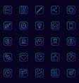 blogging blue icons set vector image